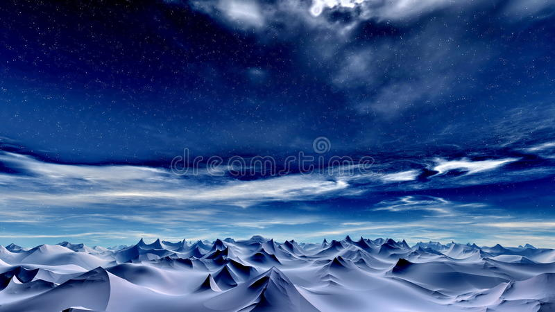 Winter sky royalty free illustration