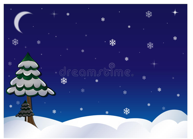 Download Winter sky and flakes stock illustration. Image of decoration - 27109923