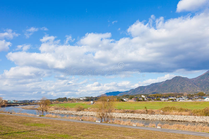 Download Winter Sky And The Riverside Stock Photo - Image: 28656228