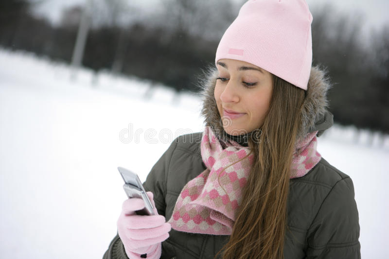 Winter sms stock images