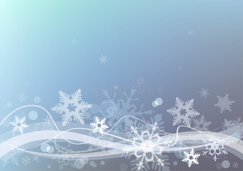 Winter Sneeuw Background stock illustratie