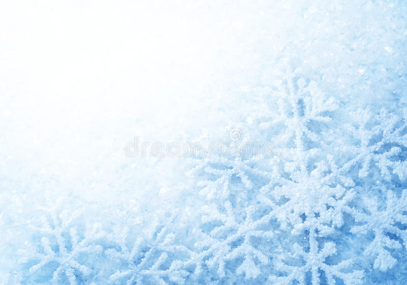 Winter Snow. Christmas Background with Copy-space for Text stock illustration
