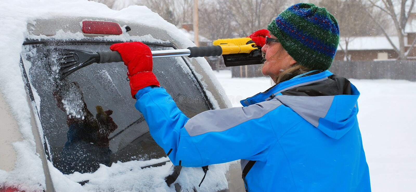 Download Winter snow. stock image. Image of senior, woman, weather - 17641813