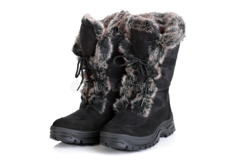 Download Winter snow boots stock image. Image of black, winter - 22964909