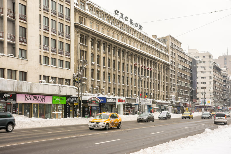Download Winter Snow On Gheorghe Magheru Boulevard Downtown Bucharest Editorial Photography - Image of history, famous: 37162192