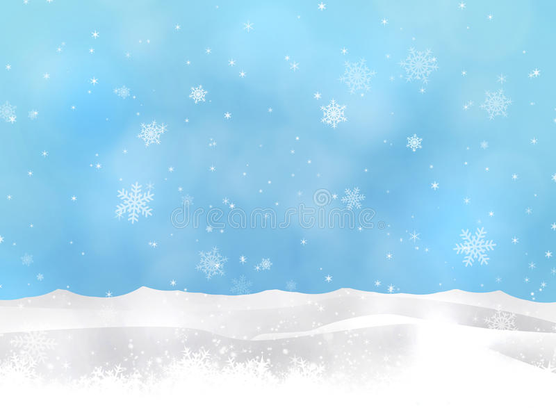 Winter Snow Hills stock illustration