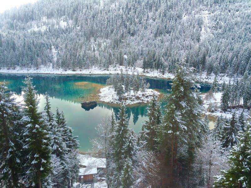 Winter, Snow, Lake, Wilderness stock photo
