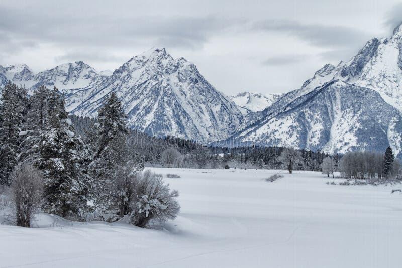 Winter, Snow, Mountainous Landforms, Mountain Range stock photo