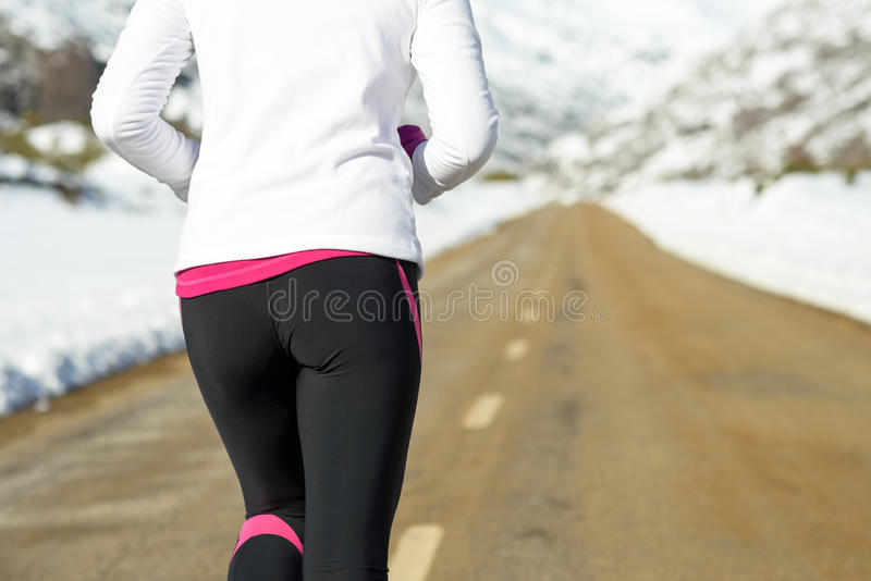Winter snow running concept royalty free stock photo