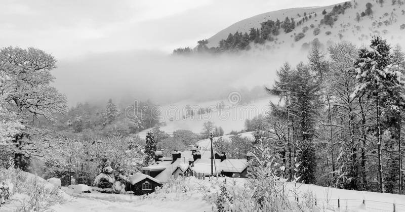 Winter Snow Scene Wales UK royalty free stock photography