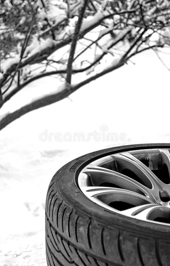 Free Winter Snow Tire Royalty Free Stock Image - 17509816