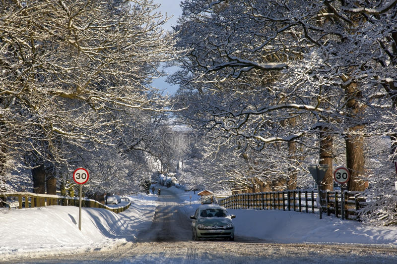 Winter snow in the United Kingdom royalty free stock photography