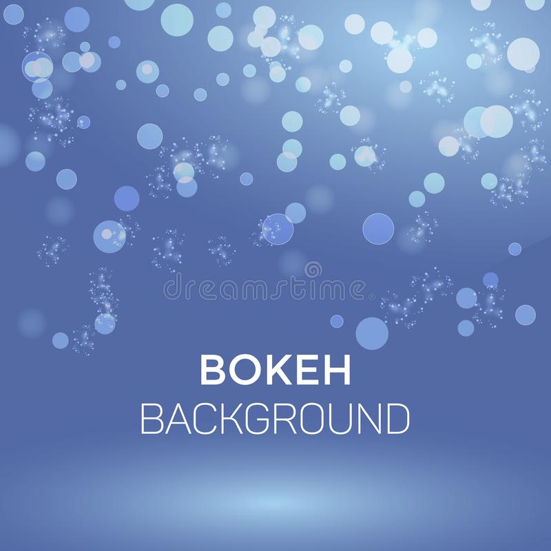 Winter Snowflake Abstract Bokeh Background Vector Illustration royalty free illustration