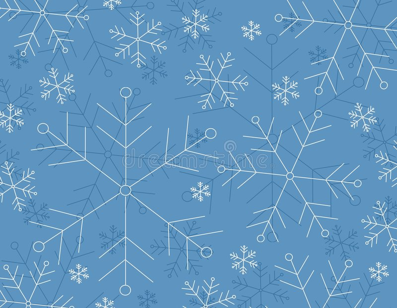 Winter Snowflake Background. A clip art background illustration of a snowflake background in blue and white colors vector illustration