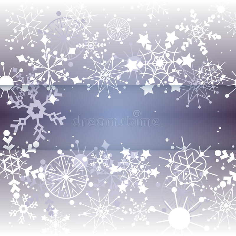 Winter Snowflake Background with Copy Space vector illustration