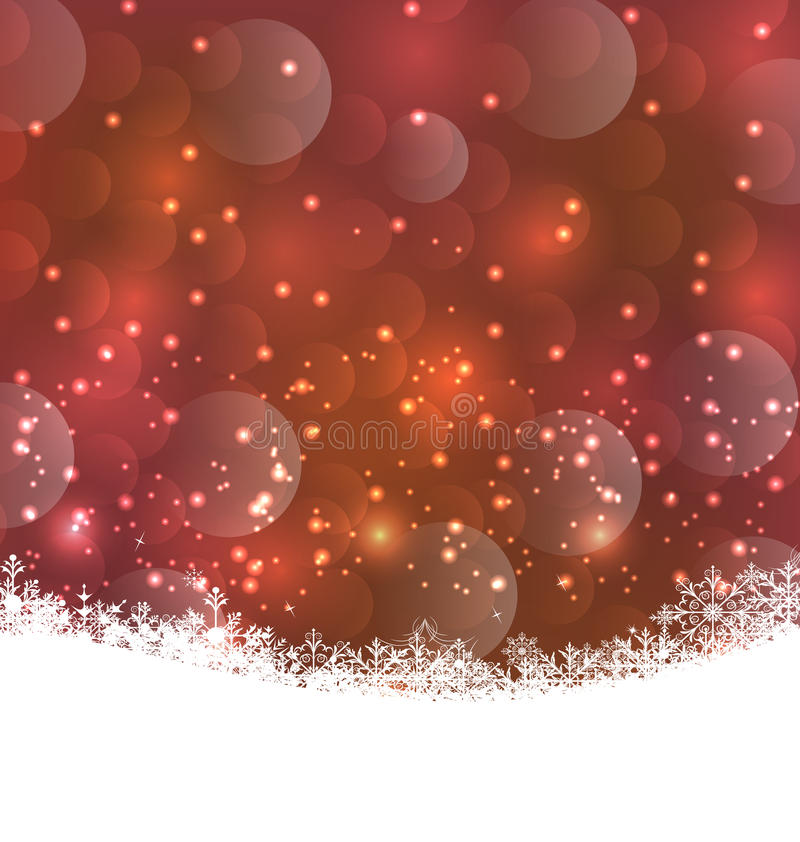 Winter snowflakes background with copy space for your text vector illustration