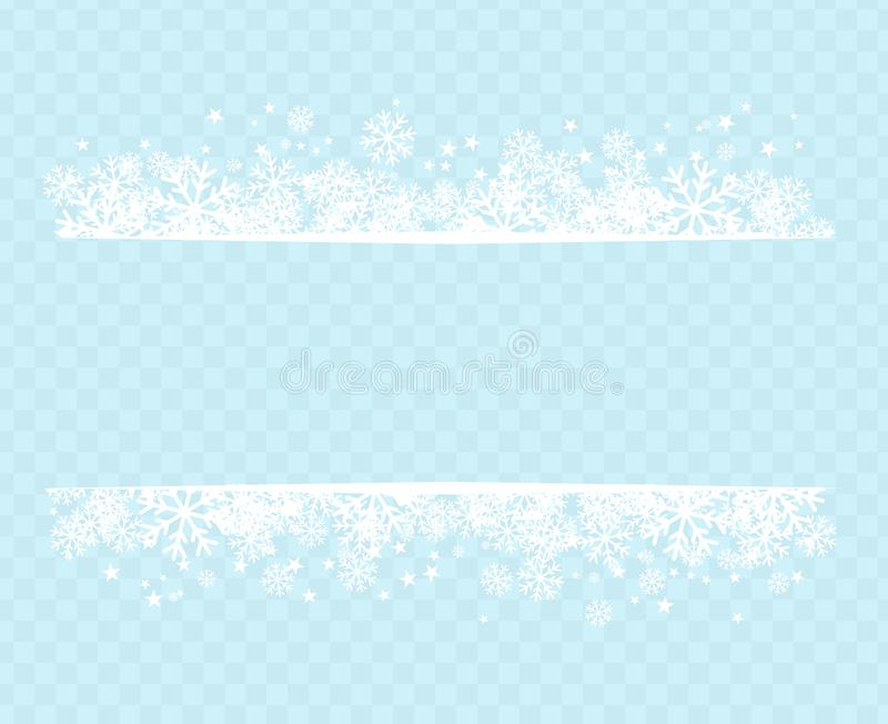 Winter snowflakes blue background for holiday text on postcard vector image royalty free illustration
