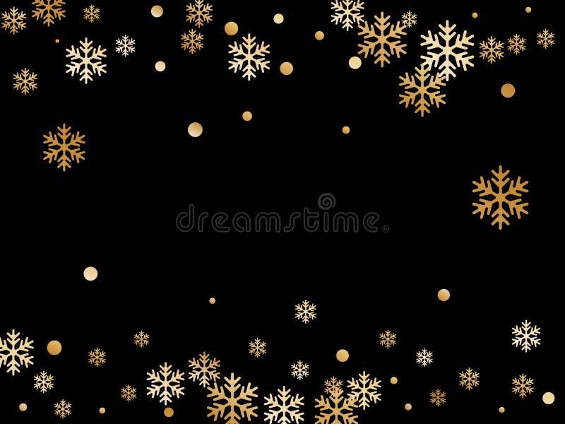 Winter snowflakes and circles backdrop. royalty free illustration