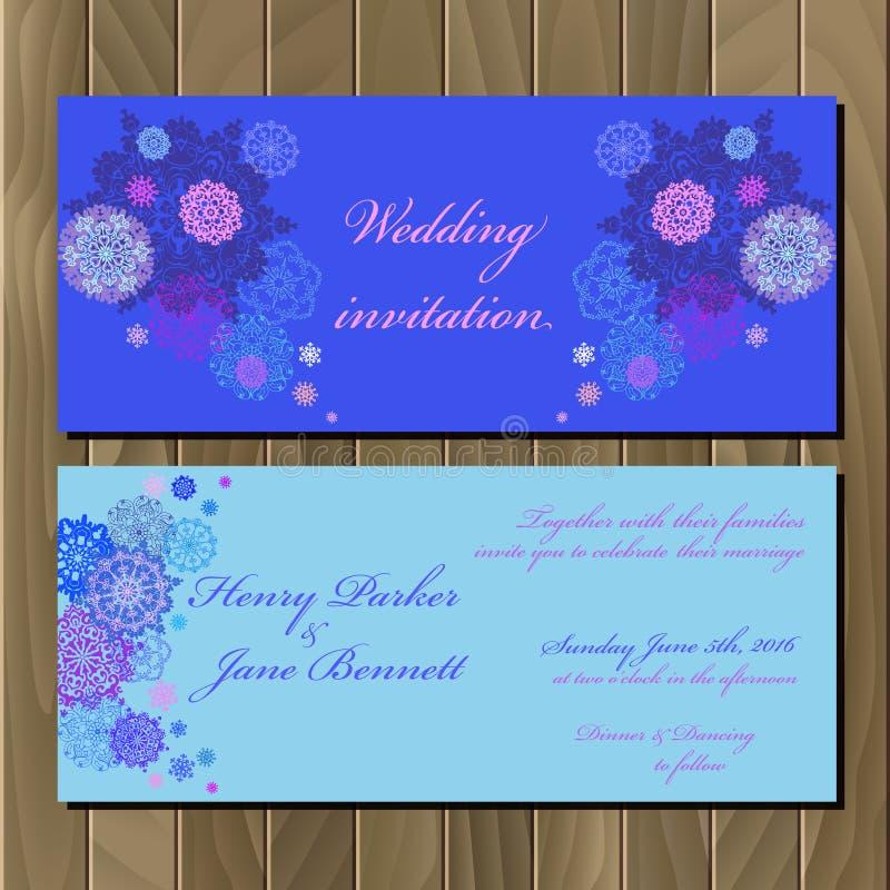 Winter snowflakes design wedding invitation card wedding vector download winter snowflakes design wedding invitation card wedding vector illustration stock vector illustration of stopboris Choice Image