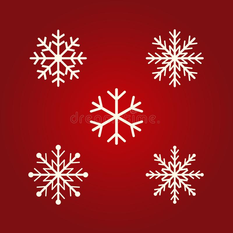 Winter Snowflakes vector icons. Flat design icons Christmas and New year  day concept for graphic design, logo, web site, social vector illustration