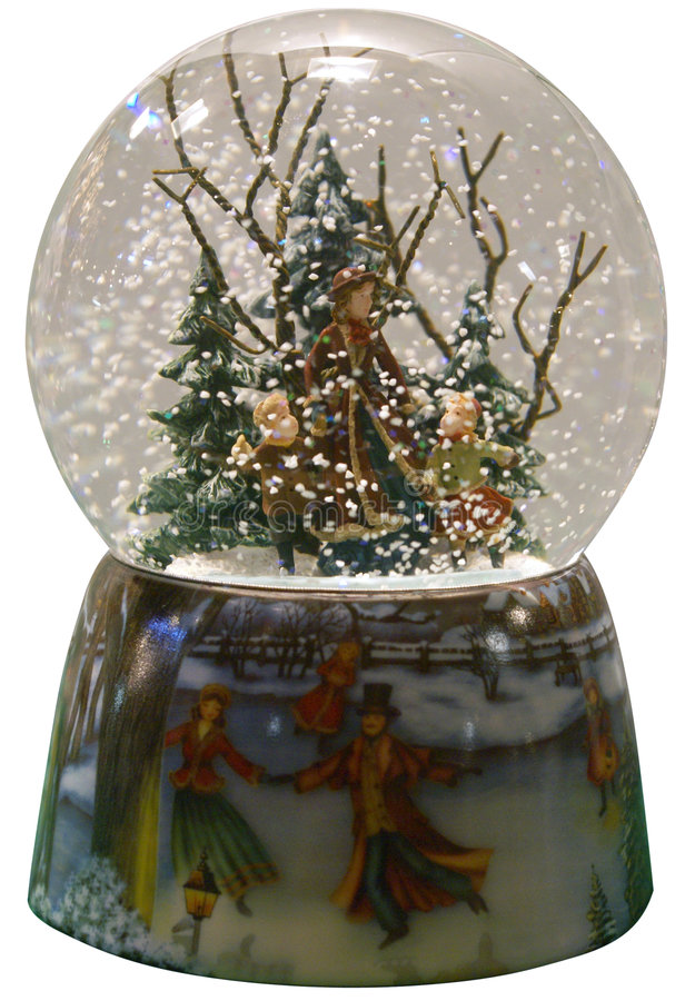 Winter Snowglobe Royalty Free Stock Photos