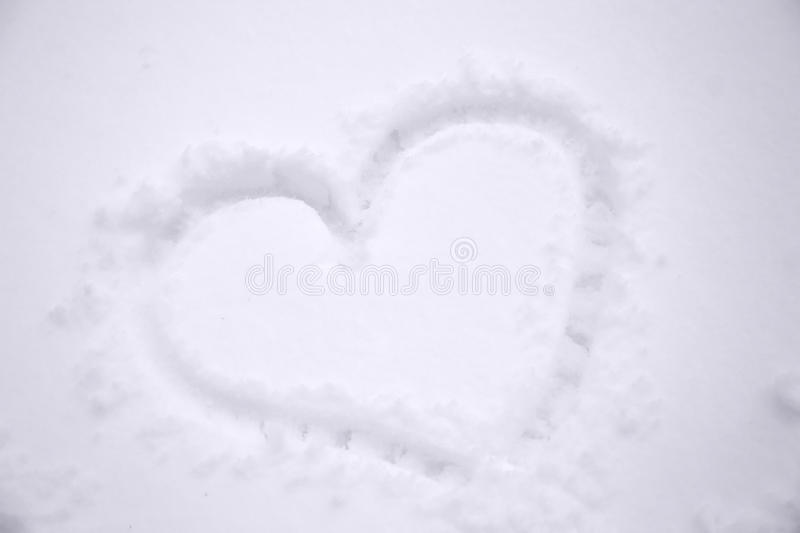 Winter Snowheart Royalty Free Stock Photo