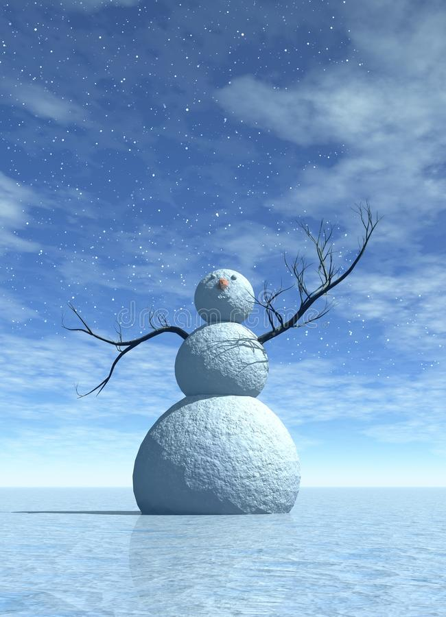 Winter snowman stock images