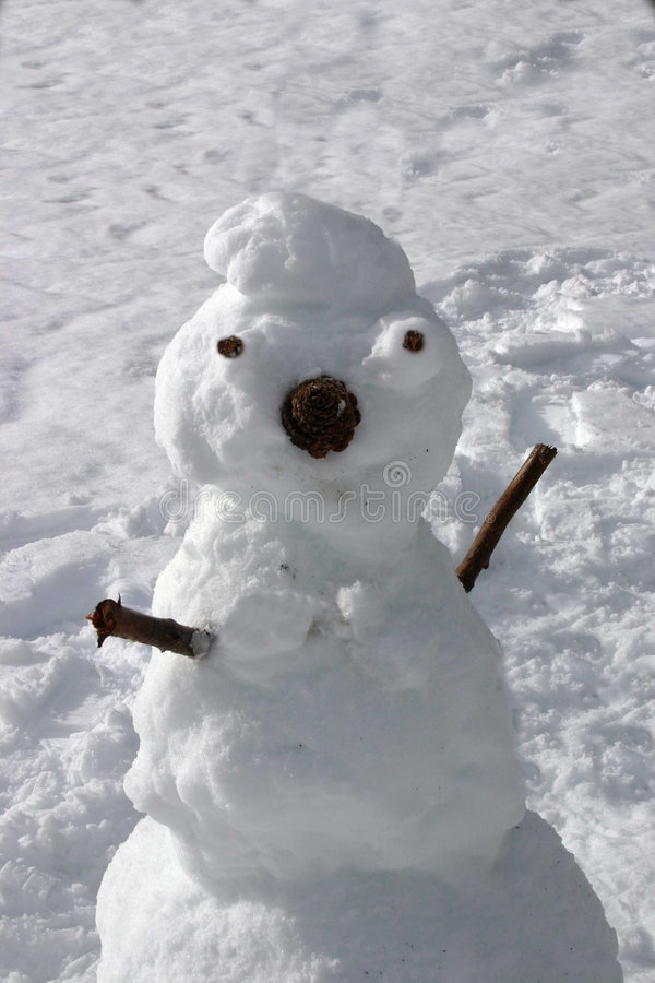 Download Winter Snowman Royalty Free Stock Image - Image: 1707836