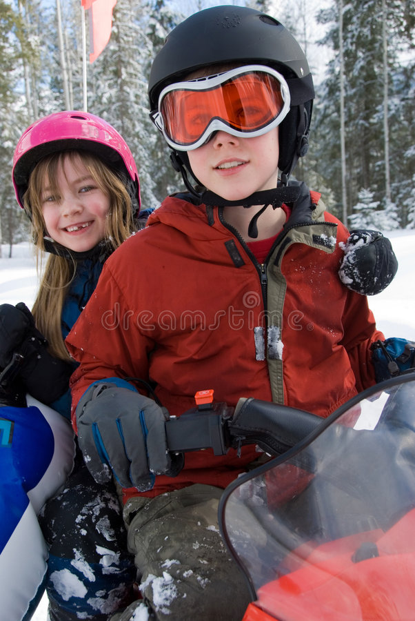 Winter Snowmobile Royalty Free Stock Image