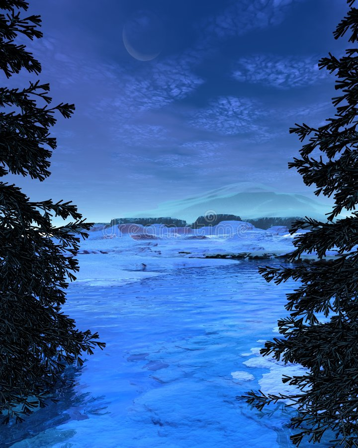 Free Winter Snowscape - 5 Royalty Free Stock Images - 7116859