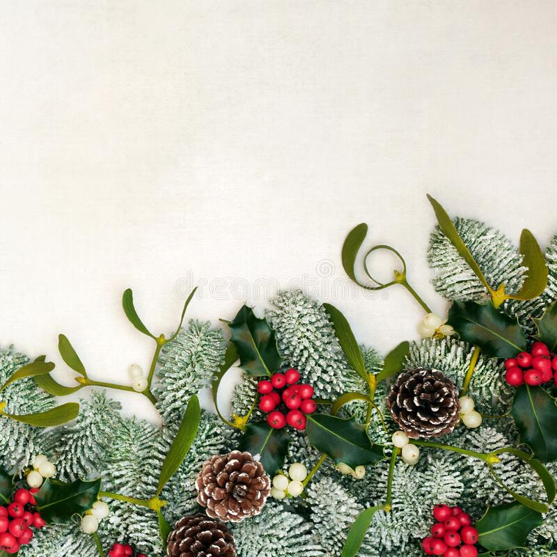 Winter Solstice and Christmas Border royalty free stock photo