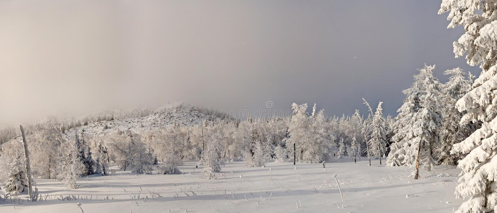 Winter in southern ural. Kumardaque mountain royalty free stock image