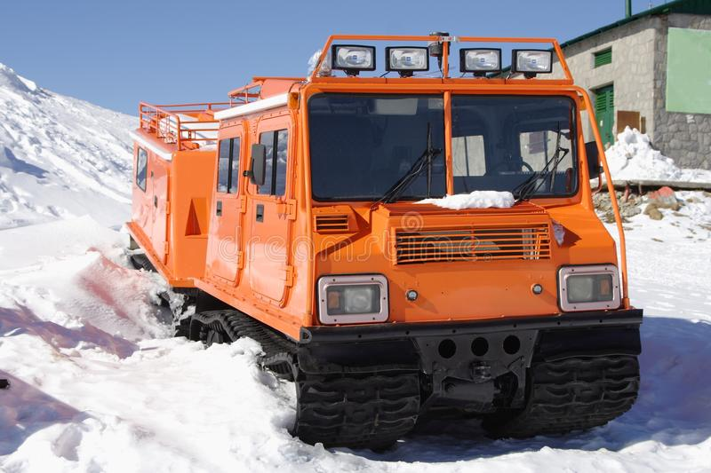 Winter Special Transportation Vehicle Stock Image