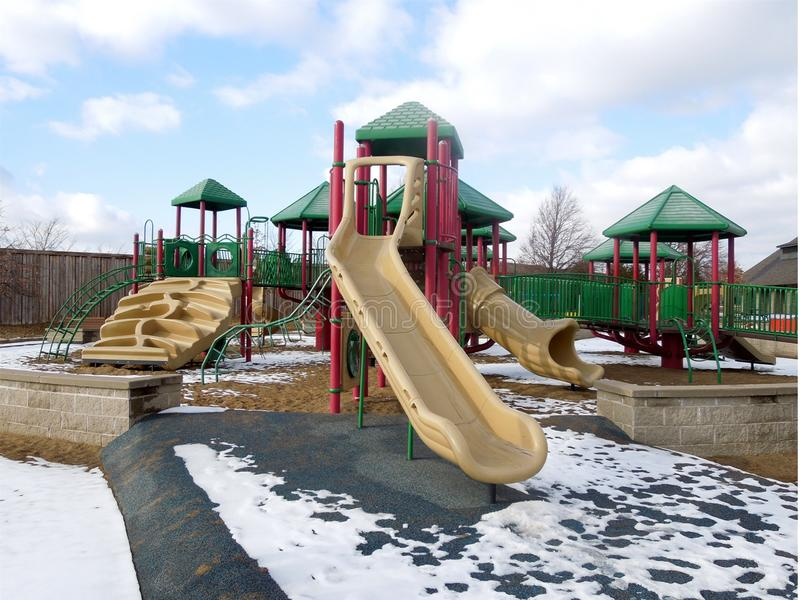 Winter-Spielplatz stockbilder