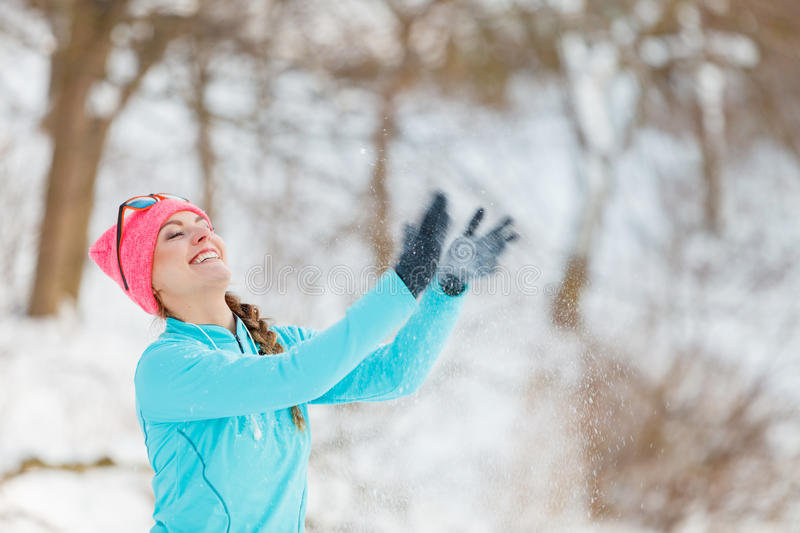 Winter sport and female fashion royalty free stock photos