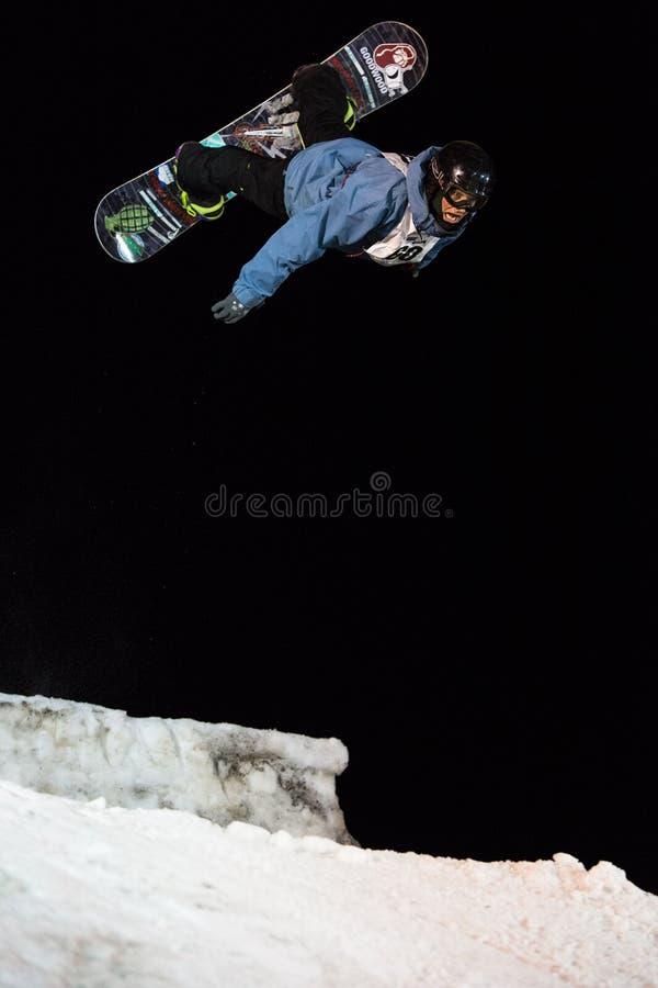 Winter-Sport-großer Luft-Wettbewerb lizenzfreie stockbilder