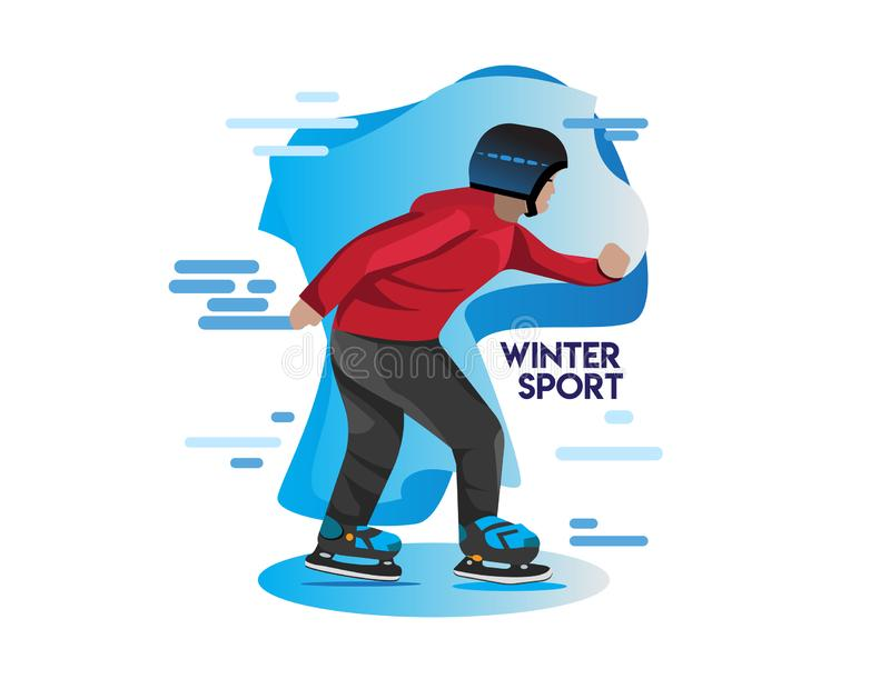 Winter sport icon illustrations for winter event royalty free illustration
