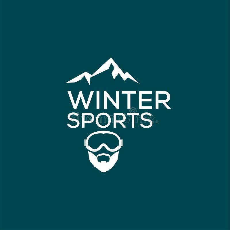 Winter Sport, Logo And Illustration. Stock Vector