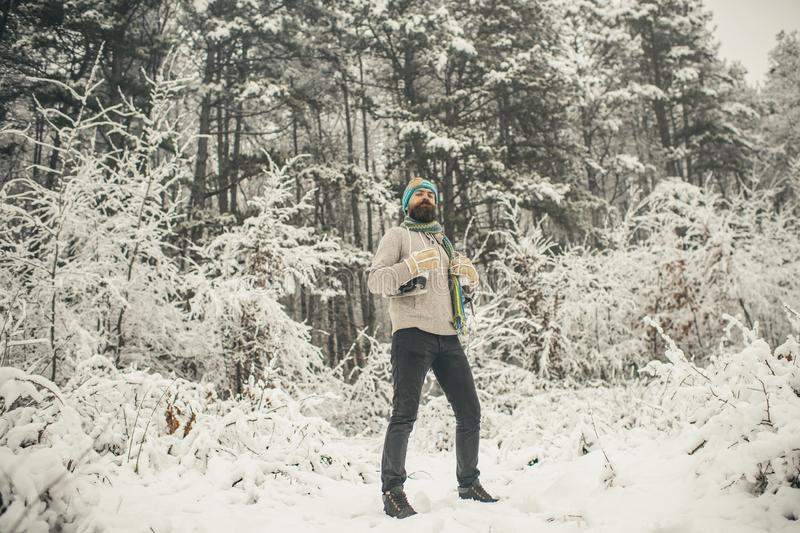 Winter sport and rest, Christmas. stock photos