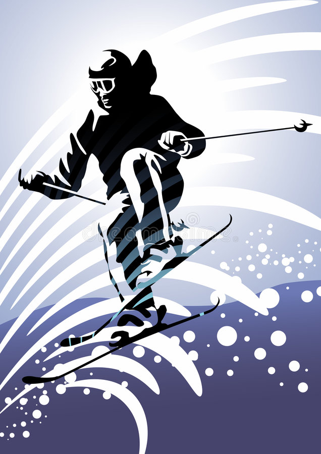 Free Winter Sports 2: Downhill Skiing Stock Photo - 8314390