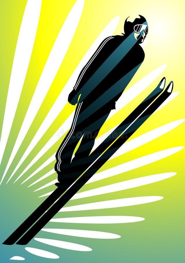 Winter sports #3: ski jumping vector illustration