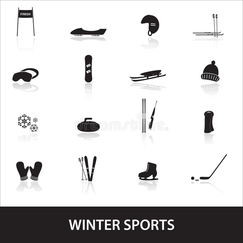 Download Winter sports eps10 stock vector. Image of curling, sleds - 40230839