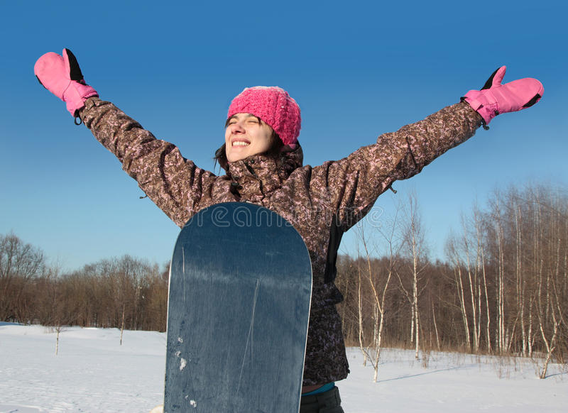 Winter sports. Snowboarder. stock images