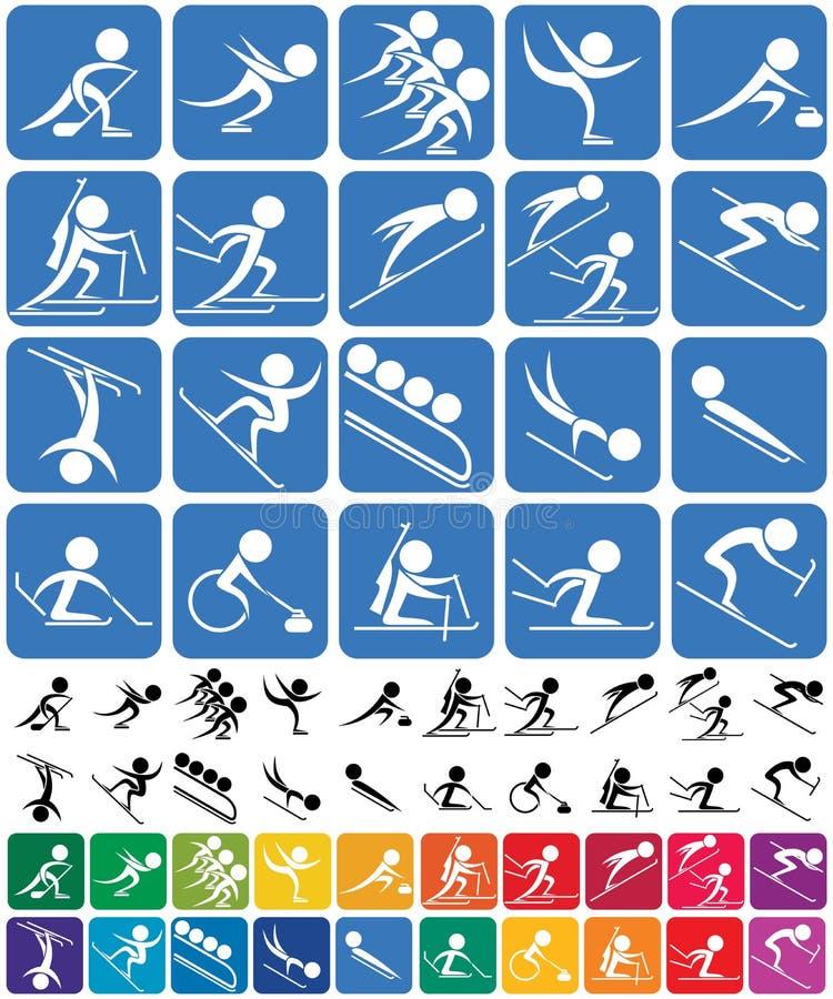 Winter Sports Symbols vector illustration