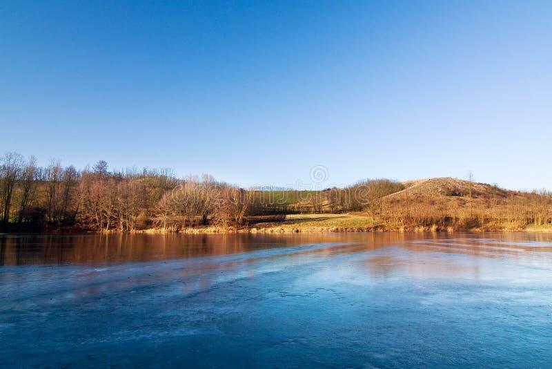 Download Winter/spring Landscape With Frozen Pond Stock Image - Image: 12343821