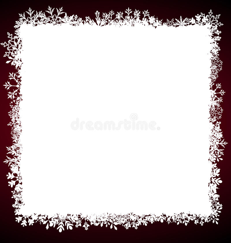 Winter Square Frame with Snowflakes royalty free illustration