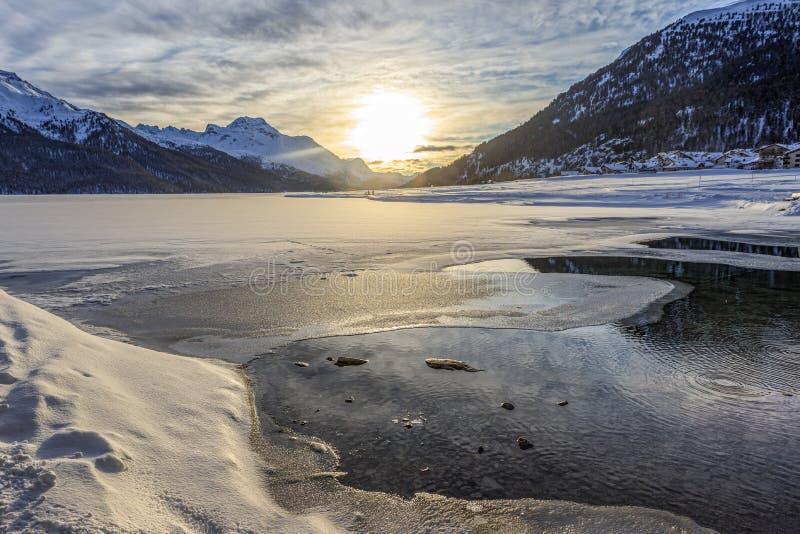Winter in St Moritz lizenzfreie stockfotografie