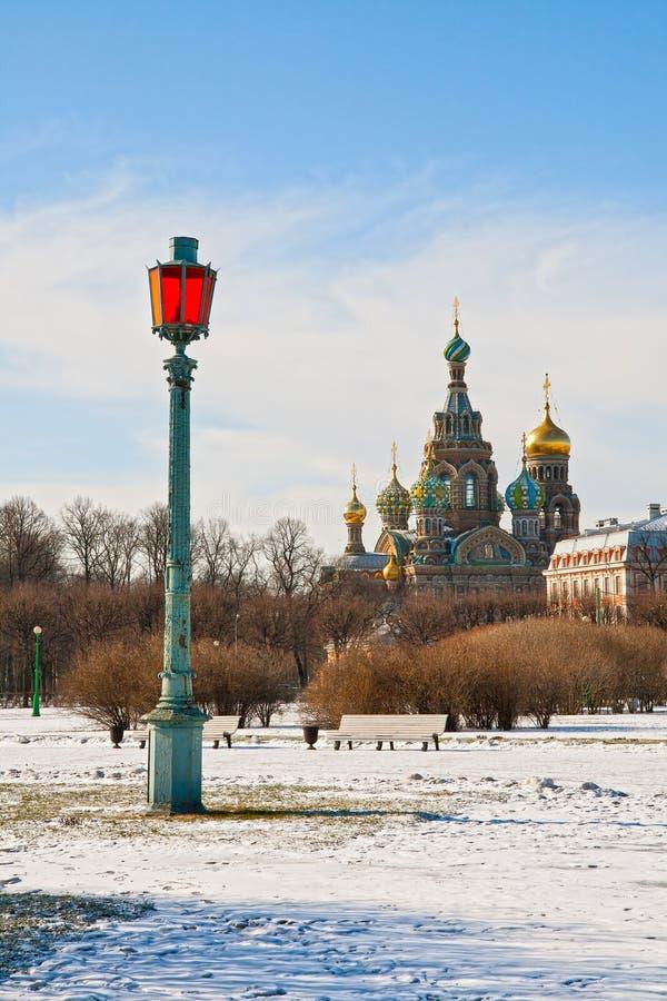 Winter St.-Petersburg royalty free stock photo