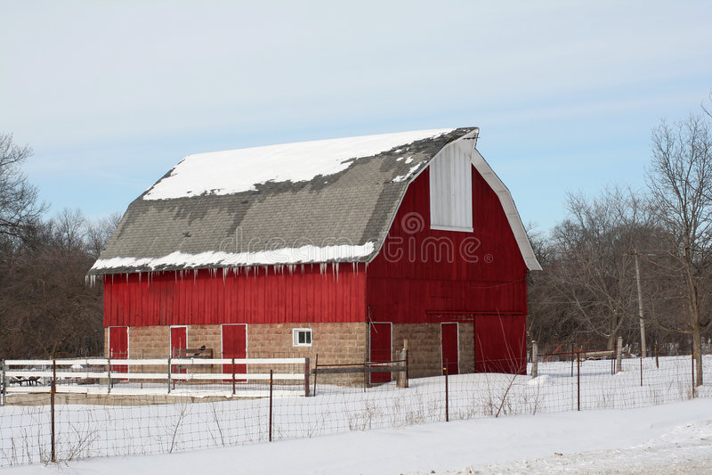 Winter-Stall lizenzfreie stockbilder