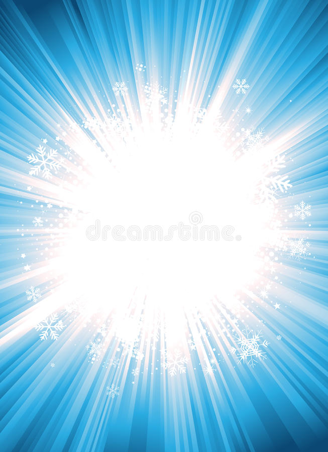 Winter Starburst With Snowflakes royalty free illustration